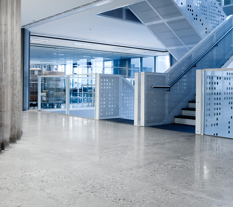 Myer Head Office Polished Concrete Flooring Progrind